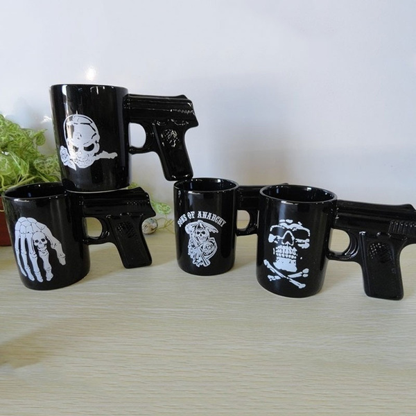 wish 400ml personalized style sons of anarchy gun mug unique