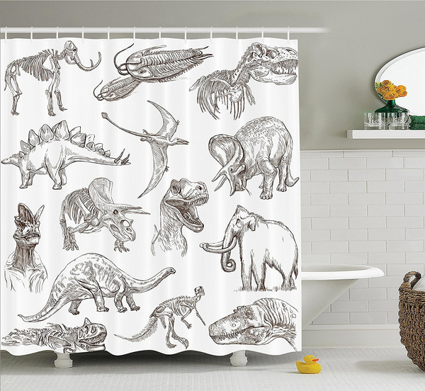 Dinosaur Shower Curtain Juric Decor