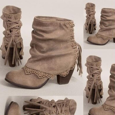 ankle boots, casual shoes, Womens Boots, Lace