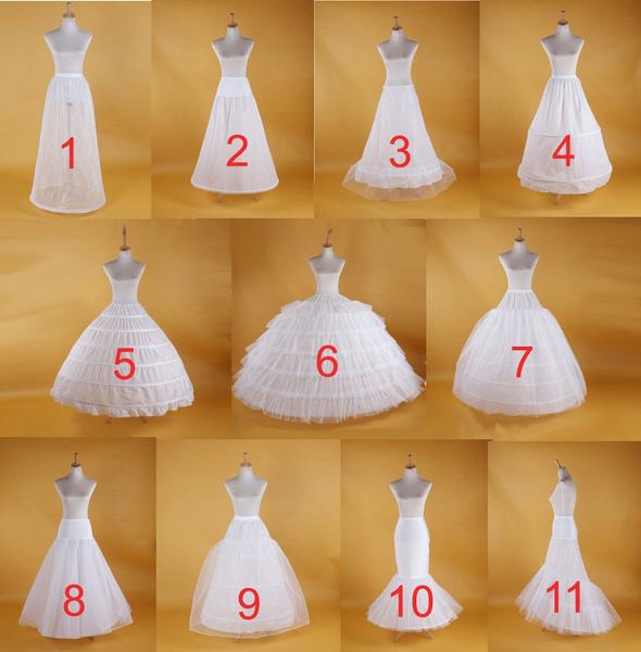 Wedding Petticoat Bridal Hoop Crinoline Prom Dress Underskirt Fancy Skirt Slip