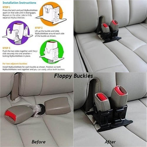 Wish New Hot Car Seat Belt Buckle Holder Rear Seat Belt Retainer