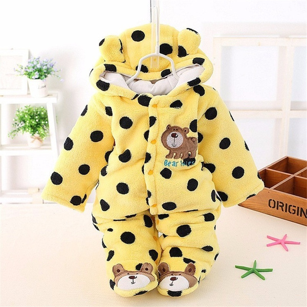 96ad21194 BibiCola winter Infant clothes children clothing set cartoon soft cotton  warm thick baby boys girls clothes suit newborn outfits