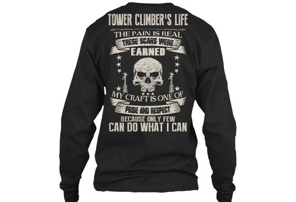 Tower Climbers Pride And Respect Gildan Long Sleeve Tee T Shirt Home