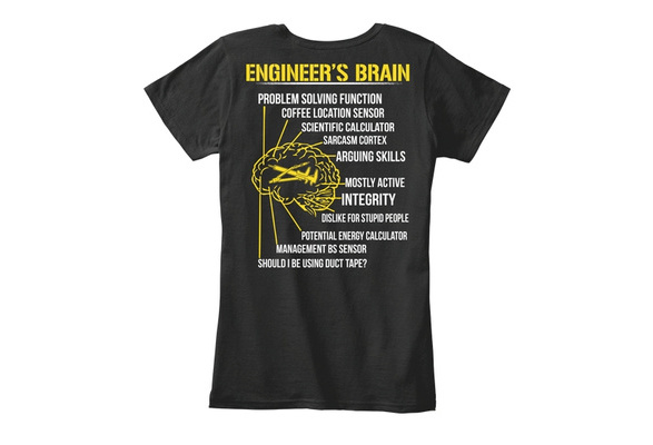 bac955f363 Engineers Brain - Engineer s Problem Solving Function Coffee Location  Sensor Scientific Calculator Sarcasm Cortex Arguing Skills Mostly Active  Integrity ...