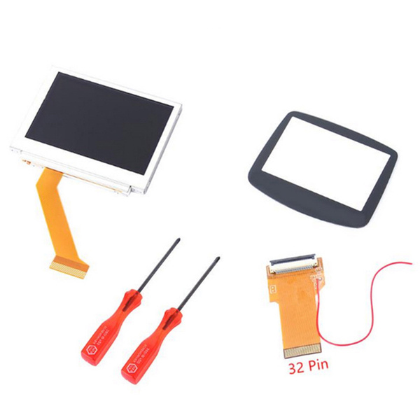 Replacement for Gameboy Advance MOD LCD Backlight Kit 32/40 Pin for GBA SP  AGS-101 Backlit Screen