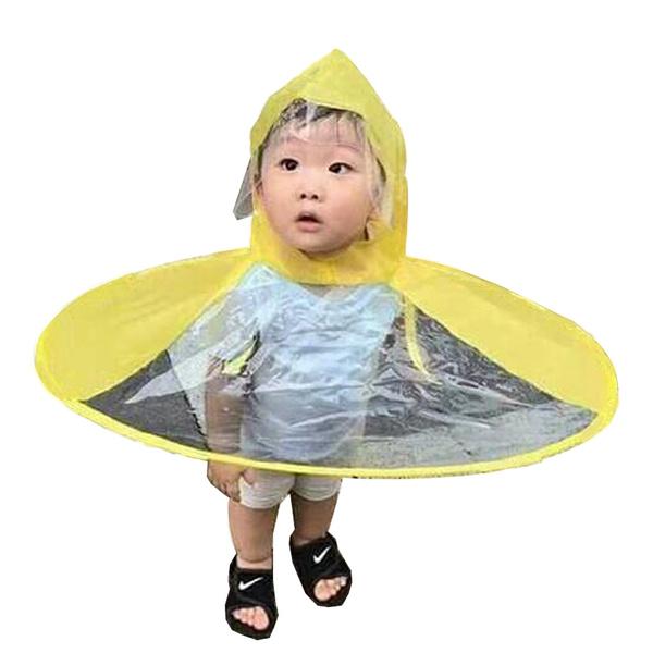 beedf17e6ff4 Creative UFO Waterproof Hands Free Umbrella Rain Hat Headwear Cap Raincoat  Outdoor Fishing Golf Child Adult student Rain Coat Cover Umbrellas.Foldable  ...