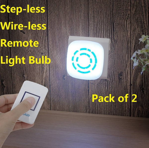 120Lumen 20-Bead LED Lamp Touch Dimmer Switch Long-Distance Remote Control  Light for Infant Mothers Children Family etc US Plug/ EU Plug Pack of 2