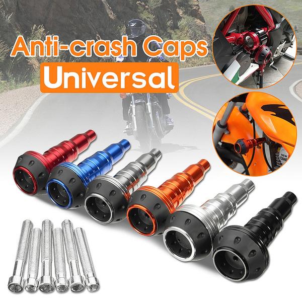 Universal Motorcycle CNC Exhaust Frame Slider Falling Protector Anti Crash Caps