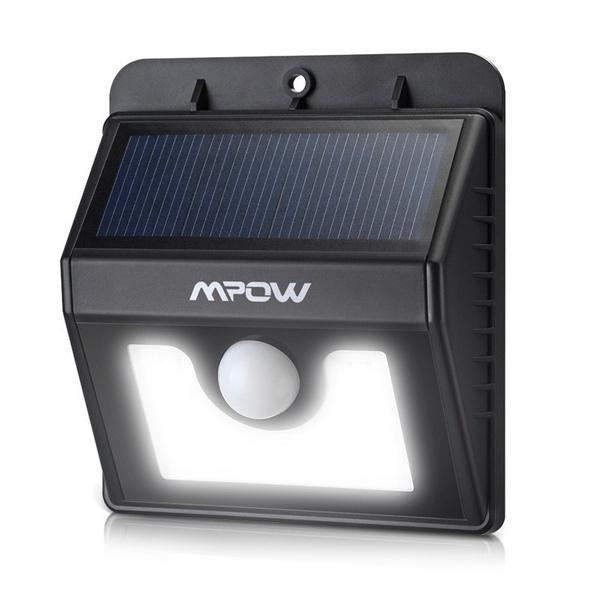 Mpow Lampe Solaire LED Etanche Faro Lumiere 8 LED/ Luminaire exterieur Sans  Fil avec Détecteur de Mouvement/ Eclairage exterieur Solaire pour Jardin,  ...