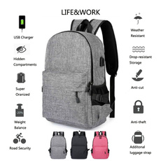 student backpacks, usb, Bags, Backpacks