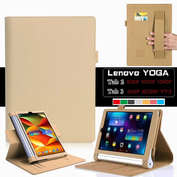 official photos be974 28210 Multifunction Foldable Tablet Leather Case For Lenovo Yoga Tablet 2 830F  8.0''/1050F 10.1''/ Tab 2 Pro 1380F 13.3'' /Lenovo Yoga Tablet 3 8.0'' 850F  ...