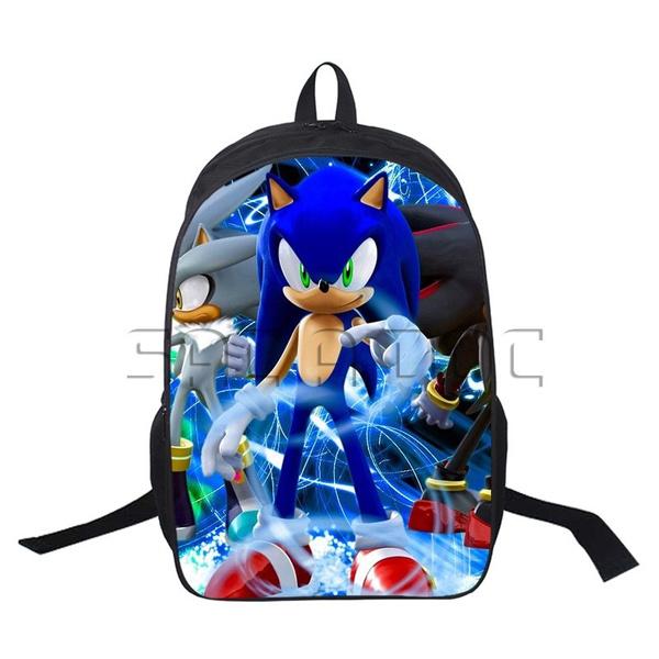 Cartoon Sonic The Hedgehog Backpack Boys Girls Fashion Anime Sonic School Rucksack 12 16 Inch Backpack Wish