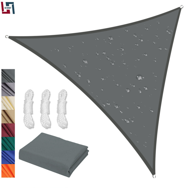 Sun Shade Sail Garden Patio Swimming Pool Awning Canopy Sunscreen UV  Outdoor(Triangle,3 colors,2 size)