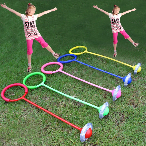 Yellow Ankle Skip Ball Girls Playground Hula Skipper Hopper Jump Rope Garden Fun