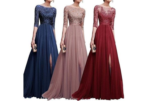 2018 Women Elegant Maxi Dress V-neck Printing A-line Floor Length Party Dress Prom Dress Wedding Dress