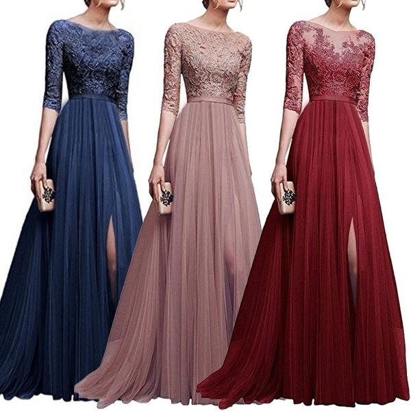 party, Plus Size, A-line, lace dress women