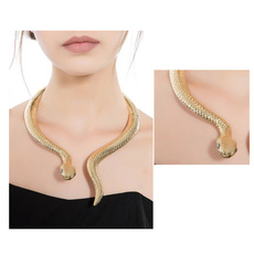 snakecollar, goldplated, Jewelry, gold