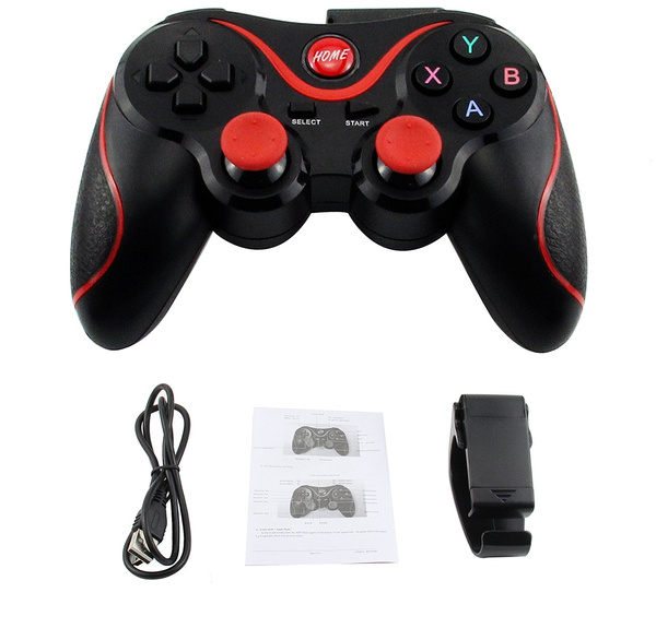 Wireless Bluetooth Gamepad Controller T3 Game Handle Dual Vibrate For  Android TV BOX Smartphone Tablet PC Gear VR with Bracket