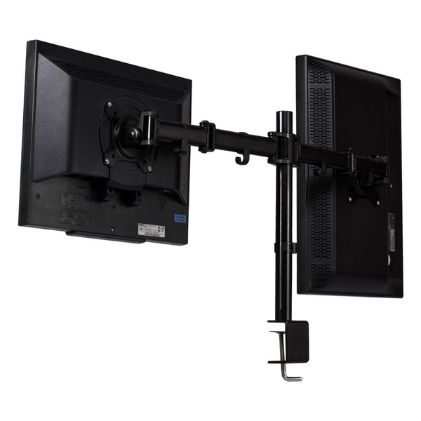 """Dual Monitor Arms Fully Adjustable Desk Mount Stand for 2 LCD Screens up to 27"""""""
