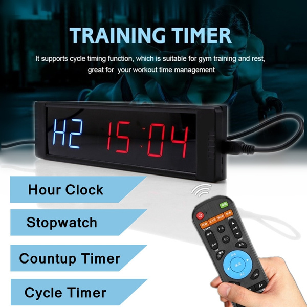 Programmable LED Crossfit Interval Timer Clock Tabata Fitness Training w/Remote PLC Peripheral Modules