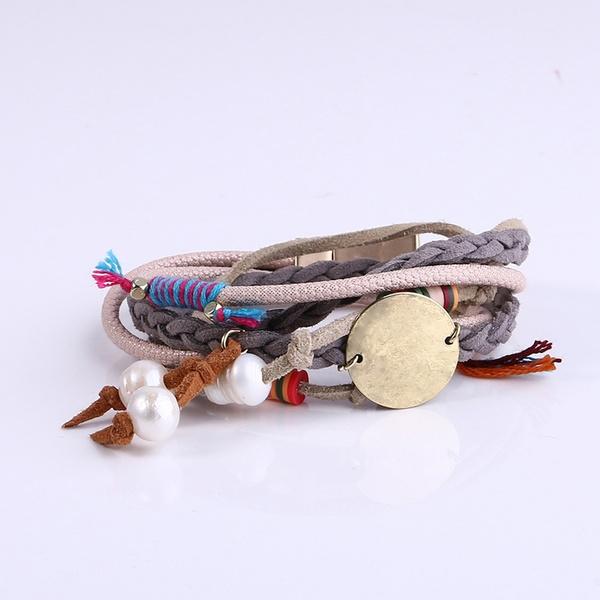 Charm Bracelet, polymer, Pearl Bracelet, polymerclay