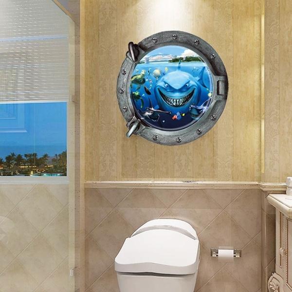 Awe Inspiring Finding Nemo Shark Submarine Art Wall Sticker Decals Home Kids Nursery Decor Alphanode Cool Chair Designs And Ideas Alphanodeonline