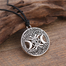 necklaces for men, Magic, triplemoongoddessnecklace, treeoflifenecklace