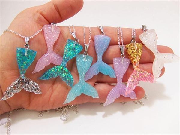 mermaidnecklace, necklaceglitter, Jewelry, Chain