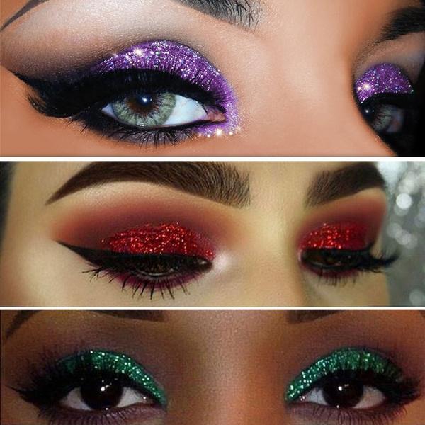 Eye Shadow Shimmer Cosmetics Makeup Glitter Shining Eyeshadow Palette 6  Colors