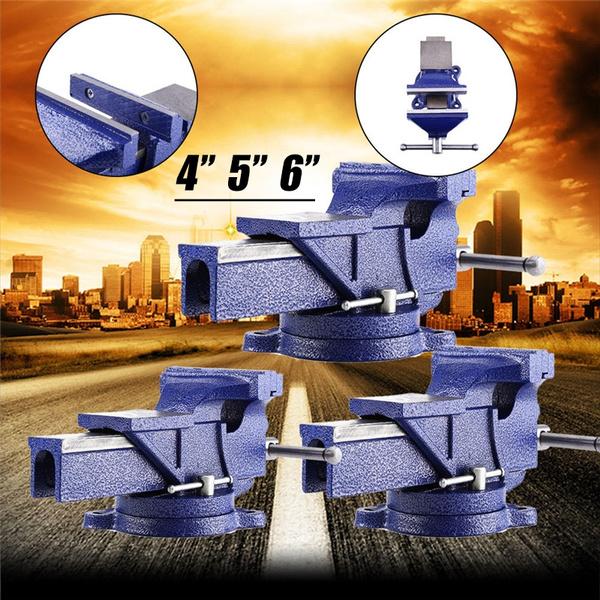 Parallel-Schraubstock 100mm-150mm mit Amboss Drehbar 360° für Werkbank LQA