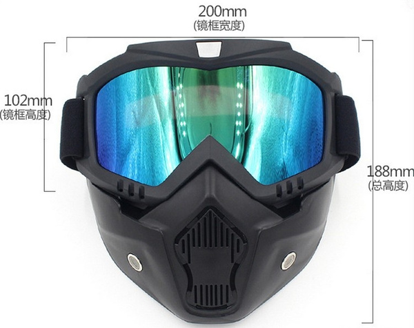 Wish   People's Fashion Snow Goggles Windproof UV400 100% UV Protection  Motorcycle Snowmobile Ski Goggles Eyewear Sports Protective Safety Glasses