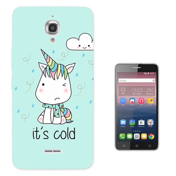 reputable site 2428c 40078 003539 - Cute Cold Unicorn Design Alcatel Pixi 4 (6