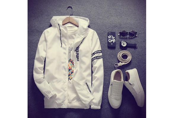 Men's Fashion Casual Slim High Quality Cotton Sports Jacket Sun Protection Clothing Hooded Coat