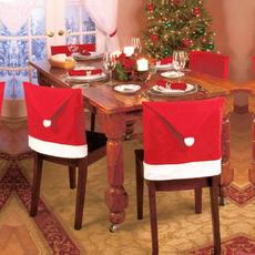 Decor, Cap, Christmas, santachaircover