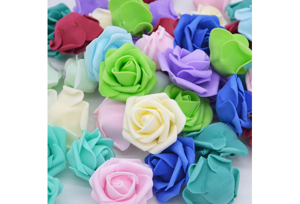 30Pcs/lot 4.5cm PE Foam Roses Handmade DIY Wreath Wedding Decoration Multi-use Artificial Flower Heads Home Garden Supplies