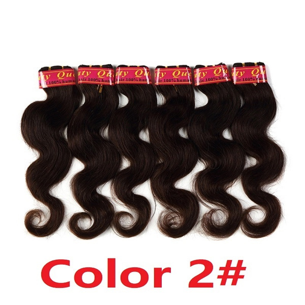 Geek Body Wave Brazilian Woman Hair Extensions 6 Bundles Color 1b