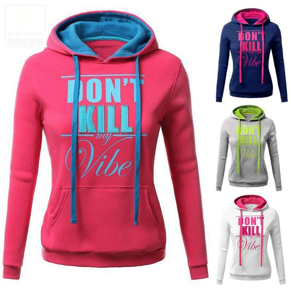 letter print, hooded, pullover hoodie, Sports & Outdoors