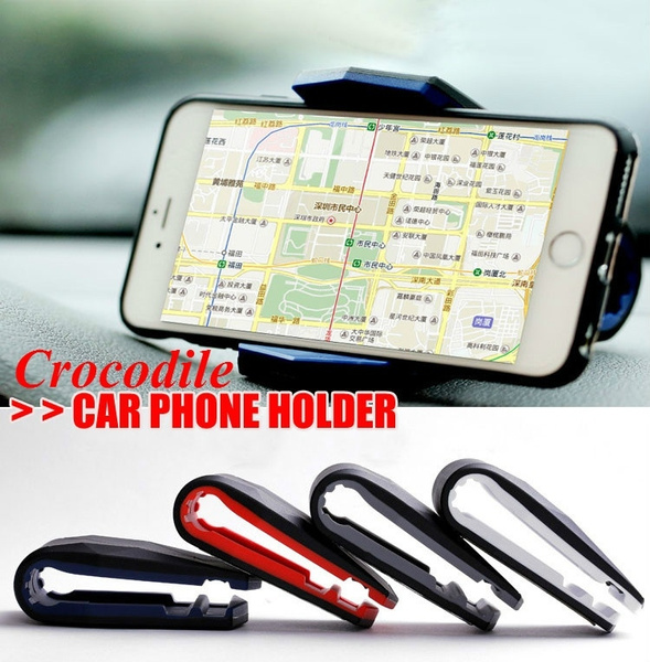 Fashion Cool Crocodile Mouth Clip Mobile Phone Docking Station Office Car  Gps Home Desktop Cradle Stand Holder--Support Different Thickness Case