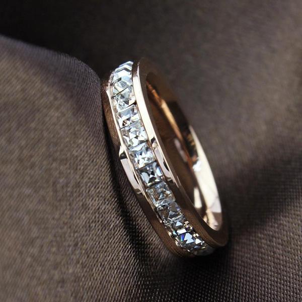 Steel, wedding ring, Gifts, 18 k