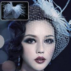 weddingveil, headdress, Wedding Jewelry, feather