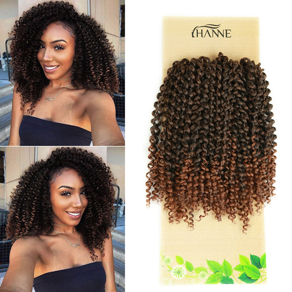 3 Pcs One Pack Ombre Color Afro Kinky Curly Crochet Hair 12 Inches