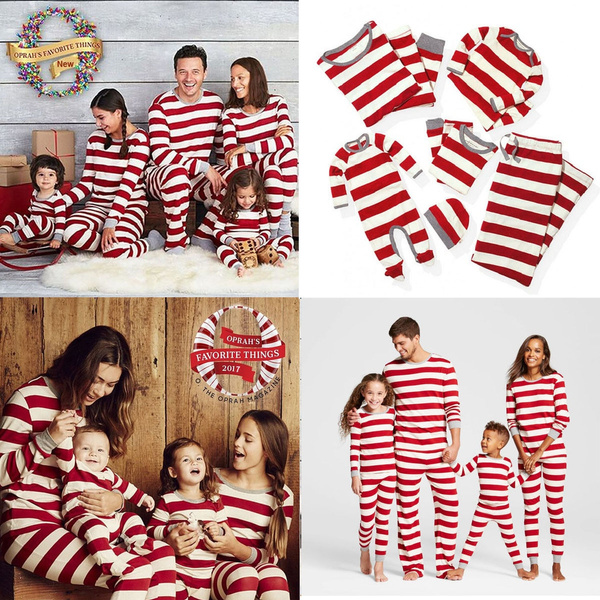 Family Matching Christmas Pajamas PJs Sets Xmas Sleepwear Nightwear Tops /& Pants