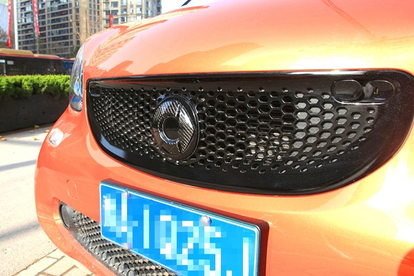 Smart 453 ForTwo ForFour Carbon Fiber Emblem Logo hood badge//Front Logo Easy fit