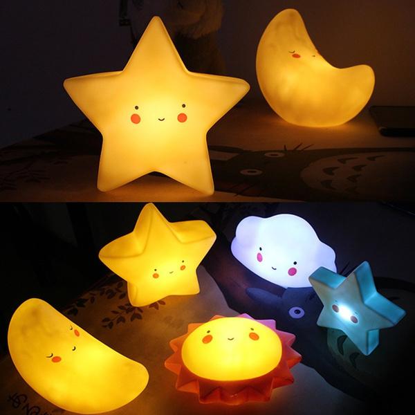 Lampe De Lumière Lune Veilleuse Étoile Nuit Chevet Soleil Cartoon Nuage UqSpVzM