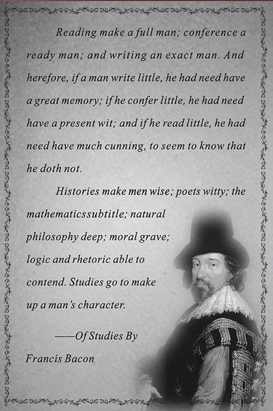 how does reading make a full man