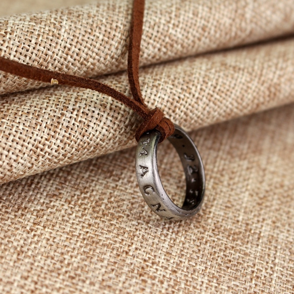 Leather Necklace Uncharted Nathan Drake Ring Sir Francis Drake
