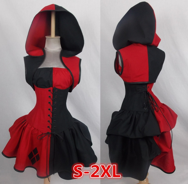 Wish - Woman's Sexy Halloween Party Cosplay Costume Custom Made Batman Arkham Harley Quinn Costume Dress Adult Villain Style Bustle Costume Plus Size wish - Woman's Sexy Halloween Party Cosplay Costume Custom Made Batman Arkham Harley Quinn Costume Dress Adult Villain Style Bustle Costume Plus Size - 웹