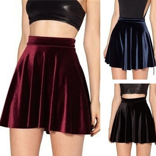 Mini, Shorts, velvet, saia