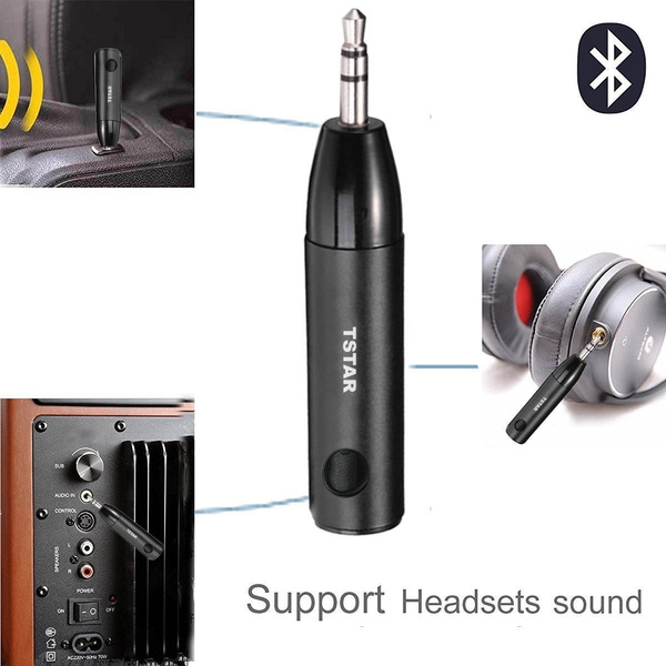 Bluetooth Receiver Adapter, TSTAR, Aluminum Wireless Mini Bluetooth 4 1  Receiver with Amplifier and AUX Audio Adaptor and Bass Boost Option for