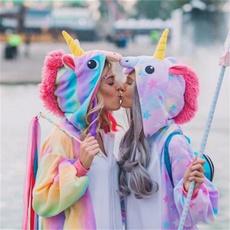 rainbow, adultpajama, Winter, unicorn